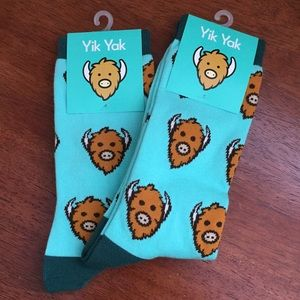 Accessories - 2 PAIRS of Yik Yak novelty socks New With Tags